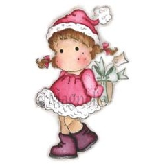 "Sweet Dreams Christmas Cling Stamp 6.5""X3.5"" Package Something For You Tilda - comprar online"