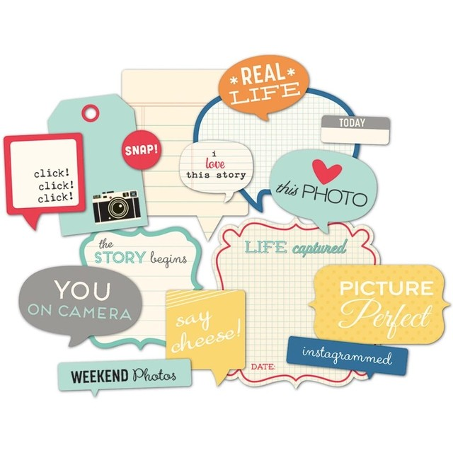 Daily Flash Snapshots Cardstock Die-Cuts Flash Blurbs 16/Pkg - comprar online