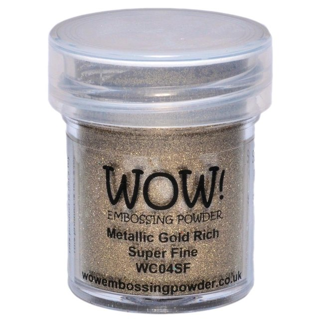 WOW! Embossing Powder Super Fine 15ml Gold Rich - comprar online