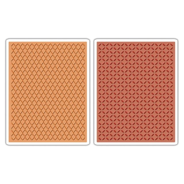Sizzix Textured Impressions A6 Embossing Folders 4/Pkg Courtyard & Trellis By Tim Holtz - comprar online