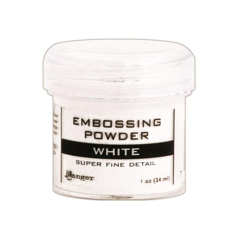 Ranger Embossing Powder Super Fine White .60 oz / Polvo de relieve en caliente Ranger x 17gr