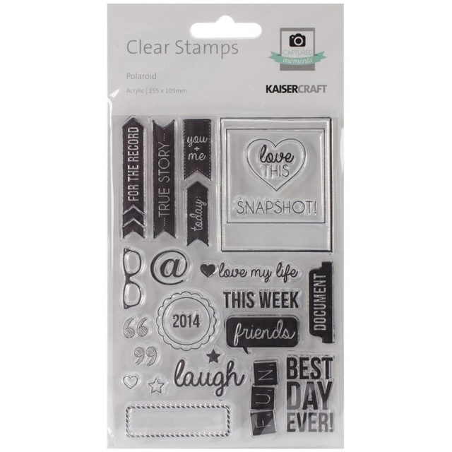 Kaisercraft Captured Moments Clear Stamps 6.25