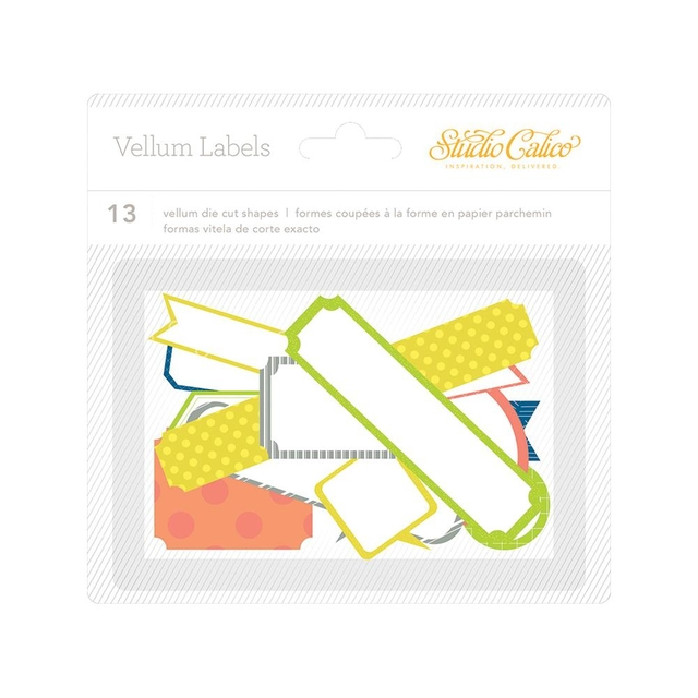 Studio Calico Lemonlush Die-Cut Vellum Labels 13/Pkg en internet