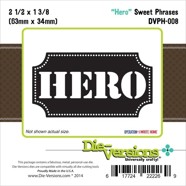 Die-Versions Sweet Phrases Die Hero, 2.5