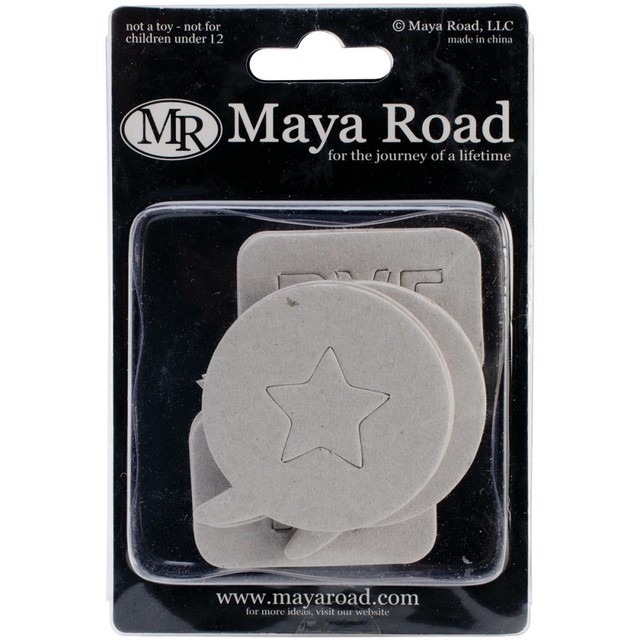 Maya Road Chipboard Set 18/Pkg Say What Bubbles 6 Styles 1.25