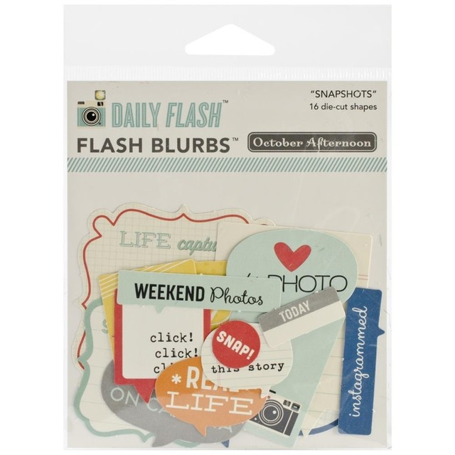 Daily Flash Snapshots Cardstock Die-Cuts Flash Blurbs 16/Pkg en internet