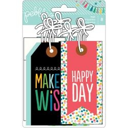 Pebbles Birthday Wishes Cardstock Tags 8/Pkg - comprar online