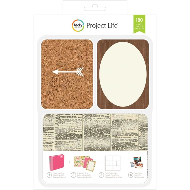 Becky Higgins Project Life Card Kit 180/Pkg DIY Shop en internet