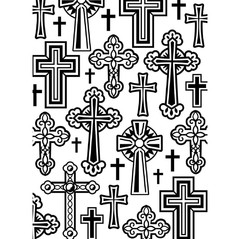 "Darice Embossing Folder 4.25""X5.75"" Crosses / Cruces - comprar online"