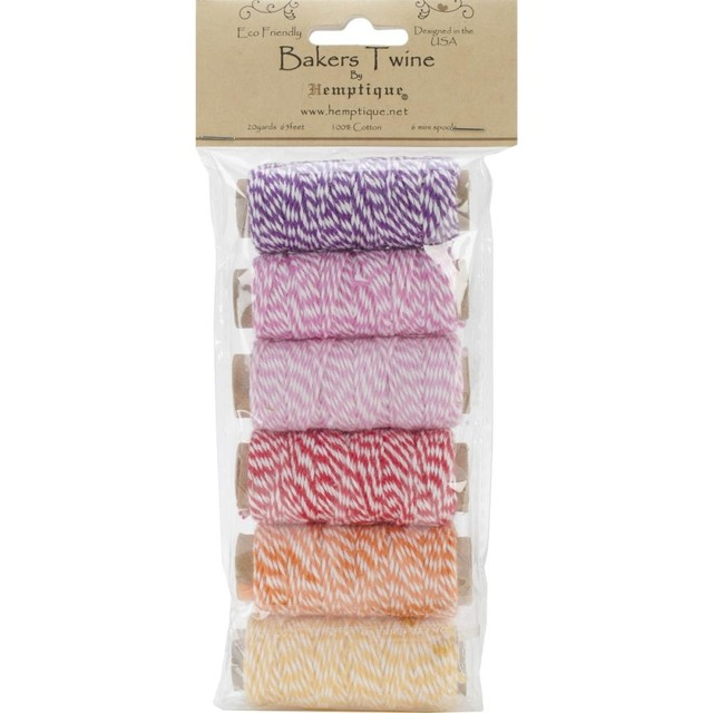 Cotton Baker's Twine Mini Spool Set 2-Ply 65' Spring Fling - comprar online