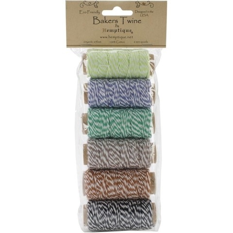 Cotton Baker's Twine Mini Spool Set 2-Ply 65' Garden Party - comprar online