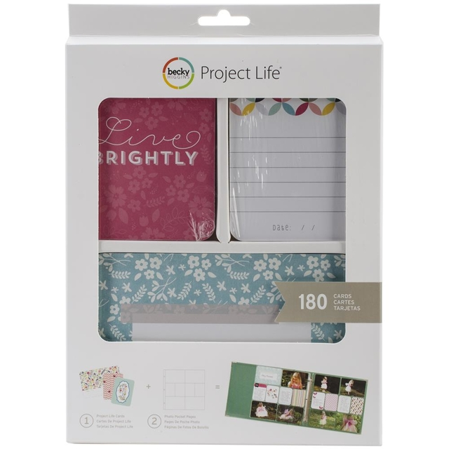 Becky Higgins Project Life Card Kit 180/Pkg Live Brightly