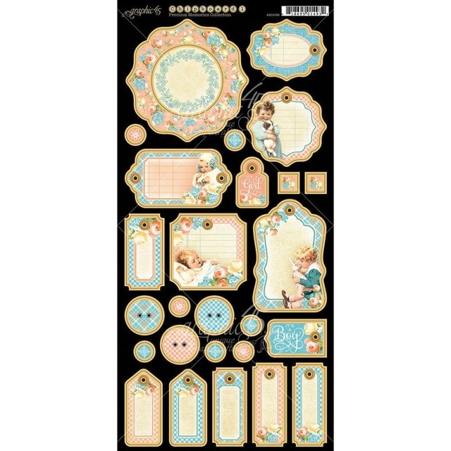 Graphic 45 Precious Memories Chipboard Die-Cuts 6
