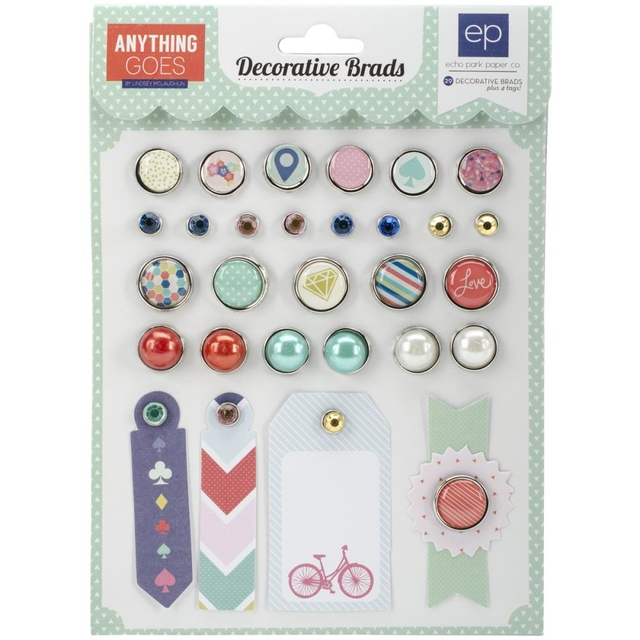 Echo Park Anything Goes Decorative Brads - comprar online