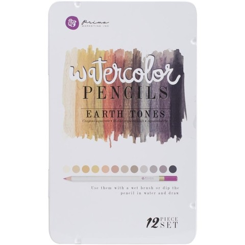 Prima Marketing Mixed Media Watercolor Pencils Earth Tones - comprar online