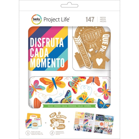 Becky Higgins Project Life Value Kit 147/Pkg en Español con Adornos de Corcho