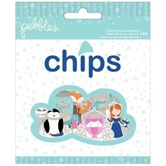 Winter Wonderland Chips Die-Cut Shapes 44/Pkg