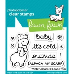 "Lawn Fawn Clear Stamps / Sellos Lawn Fawn ""Winter Alpaca"""