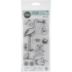 "Sizzix Interchangeable Clear Stamps / Sellos Sizzix ""Stork Announcements"" - comprar online"