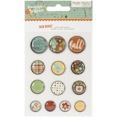 Simple Stories Pumpkin Spice Self-Adhesive Bradz 13/Pkg - comprar online