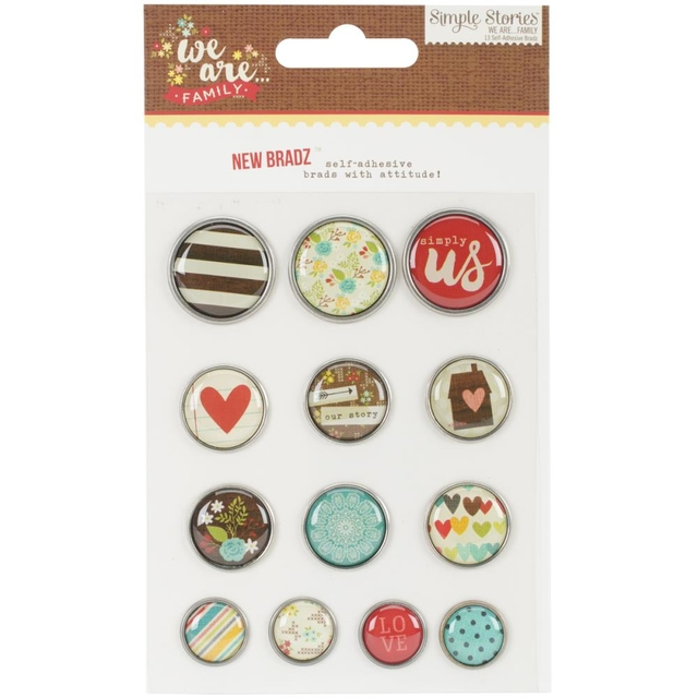 Simple Stories We Are Family Self-Adhesive Bradz 13/Pkg - comprar online