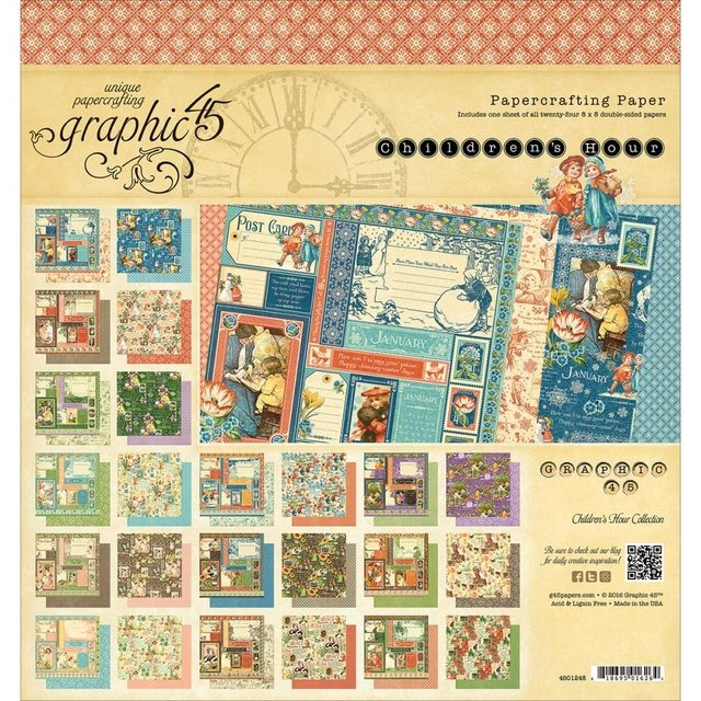Imagen de Graphic 45 Double-Sided Paper Pad 8X8
