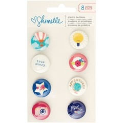 Shimelle Starshine Flair Plastic Buttons