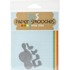 Paper Smooches Die Music Notes / Cortante Notas musicales