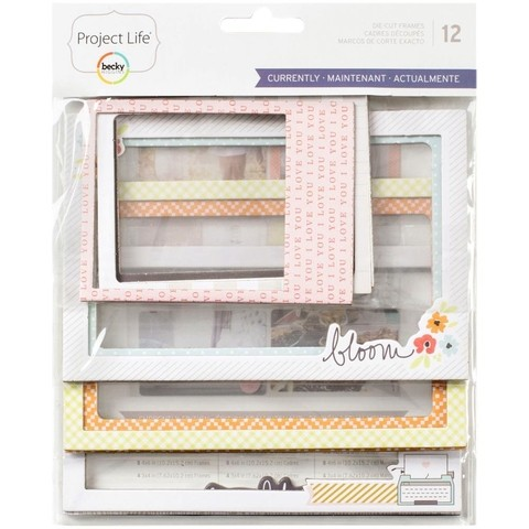 Project Life Die-Cut Chipboard Photo Frames 12/Pkg Currently / Marcos decorativos de Carton  con diseños