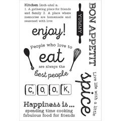 "Kaisercraft Captured Moments Clear Stamps Bon Appetit 6.25""X4"" / Kaisercraft sello transparente Bon Appetit 15.87x10.16cm - comprar online"