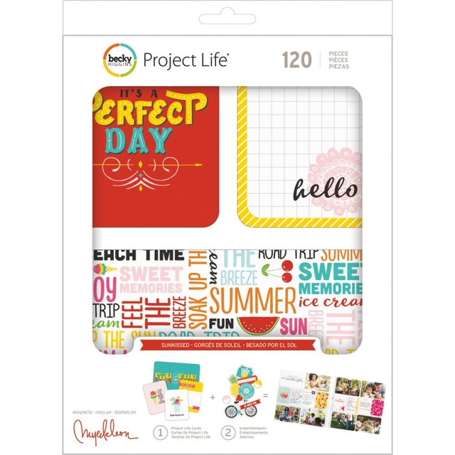 Becky Higgins Project Life Value Kit 120/Pkg Sunkissed en internet