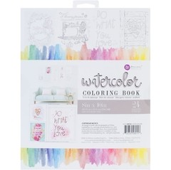 "Prima Marketing Coloring Book 8""X10"" Frameable Pages Watercolor Decor, 24 Sheets / Prima Marketing Libro para Colorear Frameable Pages de 24 hojas 20,32 x 25,4cm - comprar online"