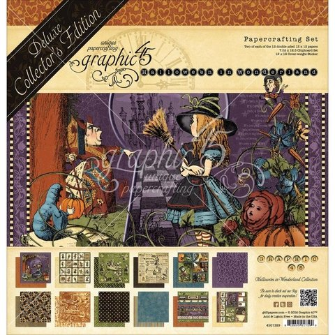 Graphic 45 Deluxe Edition Pack Hallowe'en In Wonderland / Colección Deluxe Hallowe'en In Wonderland