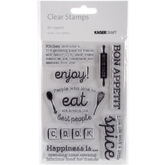 "Kaisercraft Captured Moments Clear Stamps Bon Appetit 6.25""X4"" / Kaisercraft sello transparente Bon Appetit 15.87x10.16cm"