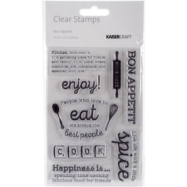 Kaisercraft Captured Moments Clear Stamps Bon Appetit 6.25