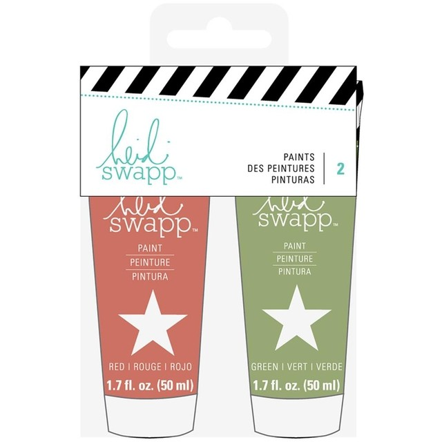 Heidi Swapp Paint Set Red & Green - comprar online