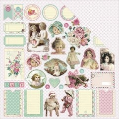 "ScrapBerry's Mother's Treasure Double-Sided Cardstock 12""X12 Buttons & Bonnets - comprar online"