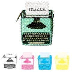 "We R Memory Keepers CMYK Stamp 3""X3"" ""Typewriter"" - comprar online"
