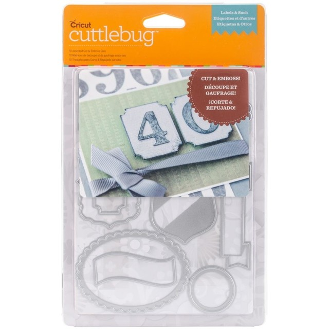 Cuttlebug Cut & Emboss Die Labels & Such, 10/Pkg / Set de Cortantes con Relieve de Etiquetas
