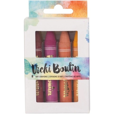 Vicki Boutin Mixed Media Oil Pastel Art Crayons 8/Pkg Set 1 en internet