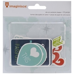 Perfect Vacation Cardstock Die-Cuts 12/Pkg Heart This (D)