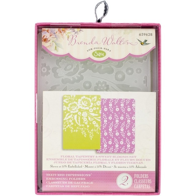 Sizzix Textured Impressions A6 Embossing Folders 2/Pkg Floral Tapestry & Sweet Blooms (D)