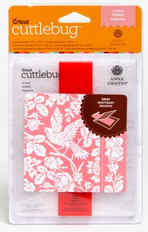 Cuttlebug A2 Embossing Folder/Border Set Aviary By Anna Griffin - comprar online