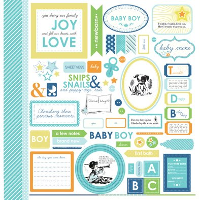 BABY MINE BOY PACK DE 13 PAPELES 30X30CM en internet