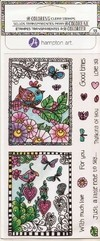 "Coloring Clear Stamps By Hampton Art. ""Owls"""