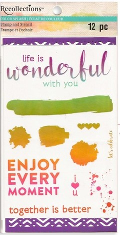 "Recollections Stamp and Stencil ""Wonderful"" en internet"