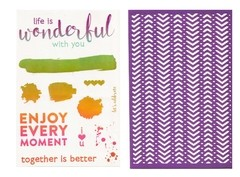 "Recollections Stamp and Stencil ""Wonderful"" - Laura Bagnola Crafts"