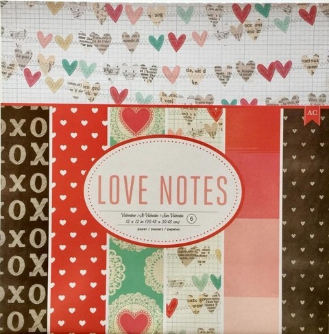 AMERICAN CARFT 12X12 LOVE NOTES PAPER