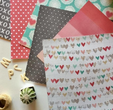AMERICAN CARFT 12X12 LOVE NOTES PAPER en internet