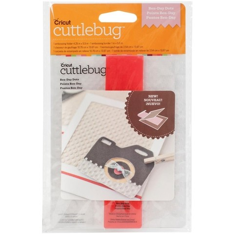 Cuttlebug A2 Embossing Folder/Border Set Ben-Day Dots